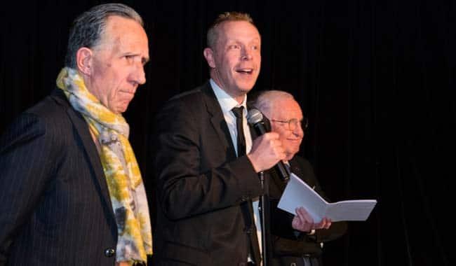 Bernard Serrou, Jean-Marc Maillot et Michel Fromont,   respectivement Président Délégué, Président du Cercle Mozart et Président d'honneur.